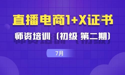 2021年7月| (初级 第二期)直播电商1+X证书师资培训暨考评员培训